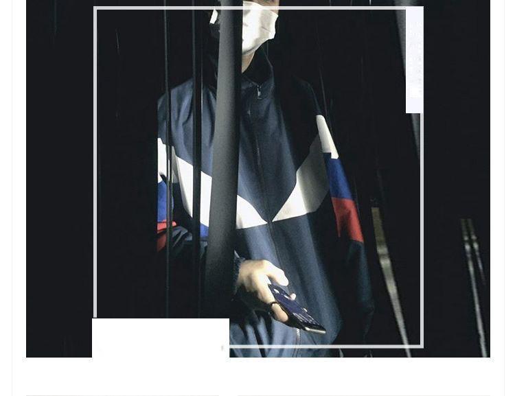 Men Jacket Gosha Rubchinskiy Classic Navy Tricolor Sport Long sleeve Windbreaker Jackets Hiphop Skateboards Couples Outwear S-XL (13)