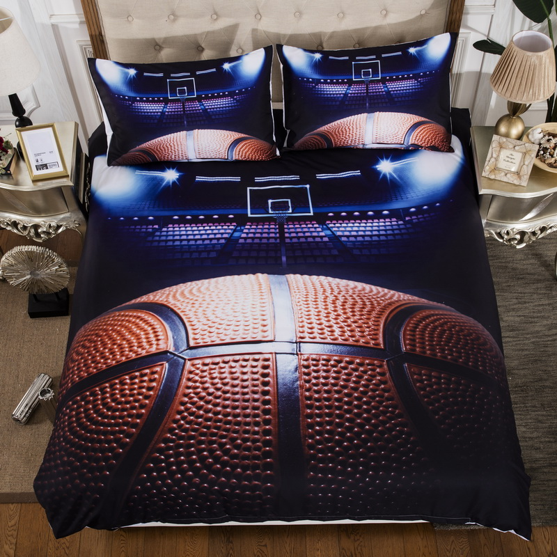 3pcs Basketball Bedding Sets Queen Size Soccer Duvet Cover King Queen Twin Size Pillowcase United States United Kingdom Size