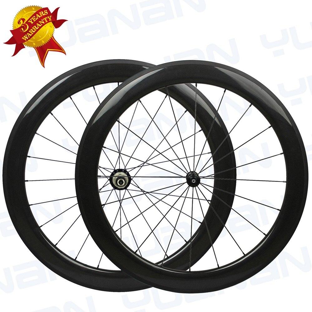 싸게 탄소 바퀴 60mm 25mm 넓은 U 모양 클린 처 광택있는 Roue Carbone 차인 자전거 바퀴 탄소 바퀴