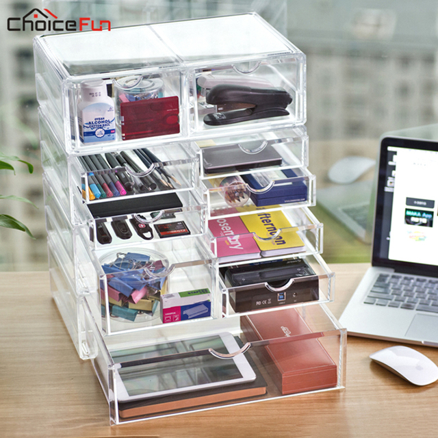 Choicefun Diy Plastic Clear Acrylic File A4 Paper Organizing Stationery Table Desk Organiser Home Office Supplies