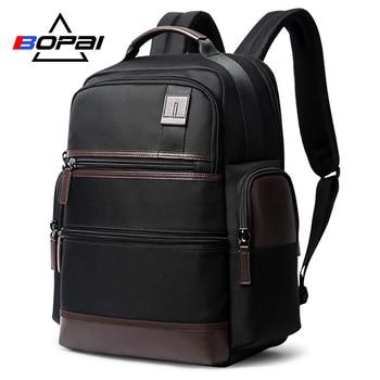 BOPAI多機能大容量ラップトップバックパック盗難防止USB充電バックパックメンズショルダーバッグトラベルバックパック防水ラップトップバッグ