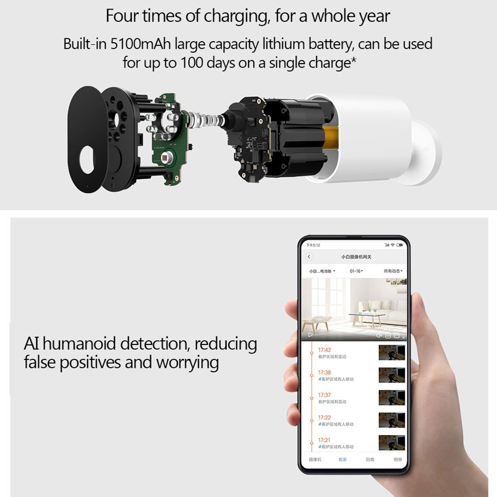 Image 2 - Original Xiaomi Smart Camera 1080P With Battery Gateway 120 