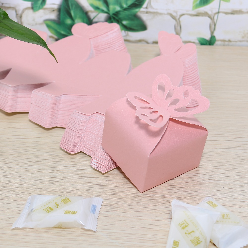 50 Pcs 3 Colors Hot DIY Party wedding Candy Box Butterfly Candy Box ...