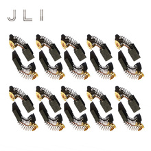 hot deal buy jli 10 pairs carbon brushes 5 11 16mm for marble machine straight cable machine tools accessories repair part replacement