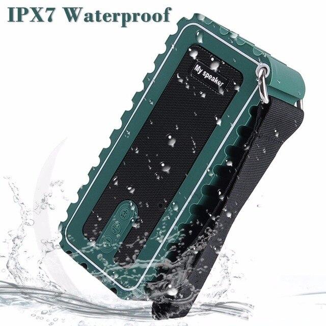 F015 IPX7 Водонепроницаемый Беспроводной Bluetooth стерео Динамик душ Динамик S Surpport громкой связи вызова FM радио карты памяти для сотового телефона