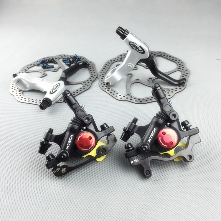 Line Pulling Road Bike Oil Disc Brake MTB Bicycle Bike Brake Mountain Bike Hydraulic Disc Brake With Rotors shimano slx bl m7000 m675 hydraulic disc brake lever left right brake caliper mtb bicycle parts