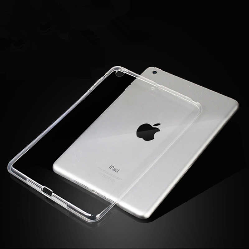 Untuk Baru iPad 9.7 2017 2018 Case Silikon Transparan Slim Cover untuk iPad Air 2 Air 1 Pro 10.5 mini 2 3 4 Coque Capa Funda