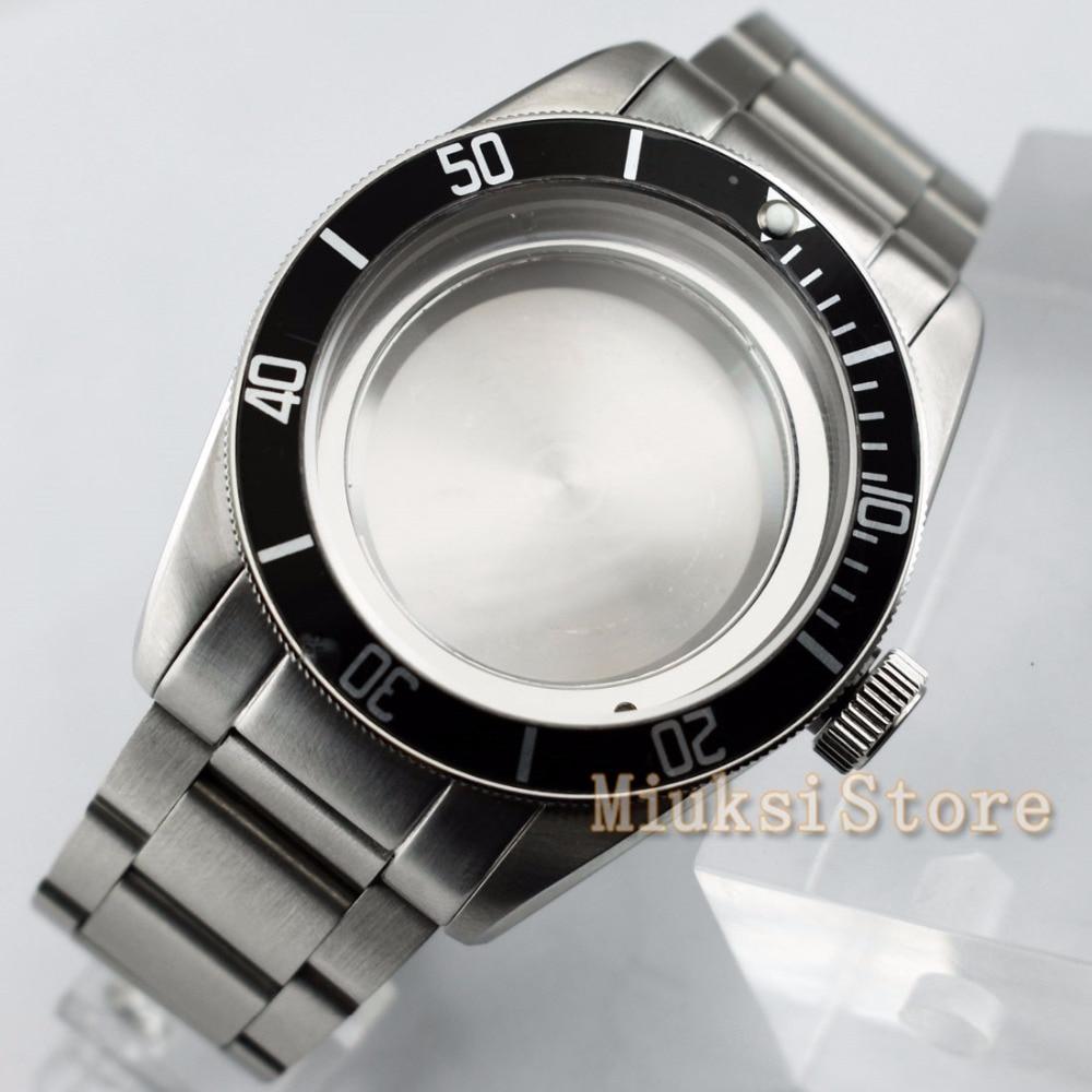 41mm koperta zegarka ze stali nierdzewnej pasuje do ETA Miyota 2836 8205 8215 821A Mingzhu/DG 2813 3804 męskie zegarki w Zegarki mechaniczne od Zegarki na  Grupa 2