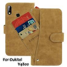 Vintage Leather Wallet Oukitel Y4800 6.3 Case Flip Luxury Card Slots Cover Magnet Stand Phone Protective Bags vintage leather wallet echo fusion 6 case flip luxury card slots cover magnet stand phone protective bags