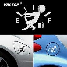 Autocollant de voiture drôle tirer le pointeur de réservoir de carburant complet hellafluxuriant vinyle réfléchissant autocollant de voiture en gros autocollants de voiture et décalcomanies