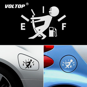 Image 1 - Funny Car Sticker Pull Fuel Tank Pointer Full Hellaflush Reflective Vinyl Car Sticker Decal Wholesale Car Stickers and Decals