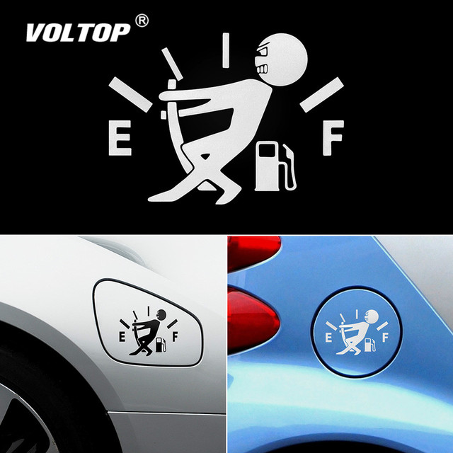Funny Car Sticker Pull Fuel Tank Pointer Full Hellaflush Reflective Vinyl Car Sticker Decal Wholesale Car Stickers and Decals