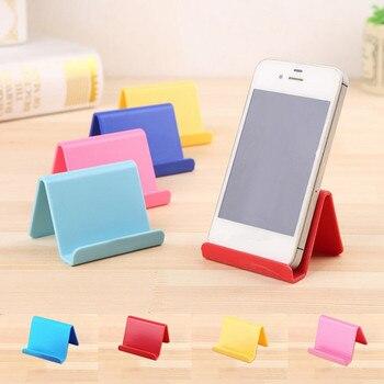 Soporte para teléfono inteligente de plástico Universal Base de soporte para Smartphone Color caramelo soporte para teléfono móvil para todos los teléfonos
