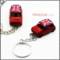 1pc Red 1:60 Classic Union Jack MINI Cooper Diecast Key Chain Key Ring Keychain