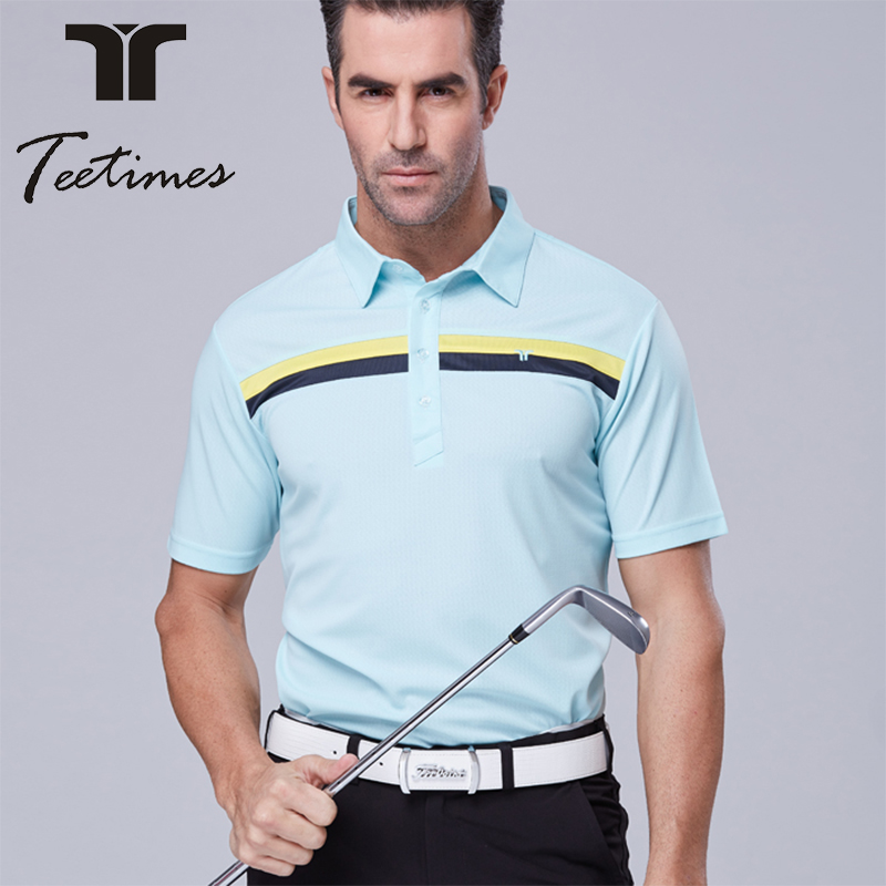 ФОТО new golf shirt men sports quick dry short-sleeve shirt male spring and summer outdoor top shirt brand design 5 colors size S~XXL