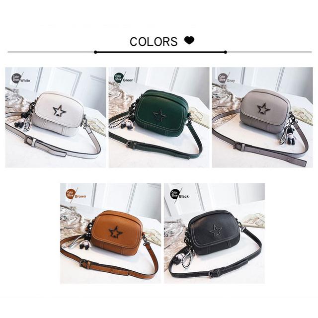 Beibaobao 2018 Flap PU Leather Mini Handbag Hotsale Lady Shoulder Bag Women Satchel Shopping Purse Messenger Crossbody Bags Star