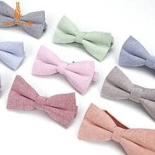 Брендовый мужской галстук-бабочка, хлопковый Детский Повседневный галстук-бабочка, красный, синий, розовый, Одноцветный галстук-бабочка, бабочки для смокинга, мужской, для родителей, Детская бабочка