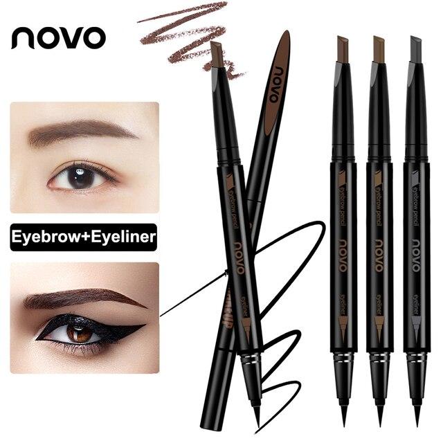 Novo 3 Colors Double Head Eyebrow Pencil Eye Makeup With Black