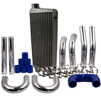 600x300x76 Intercooler Polished 3 76 Outlet + 2.5 64mm Inter cooler Pipe Kits