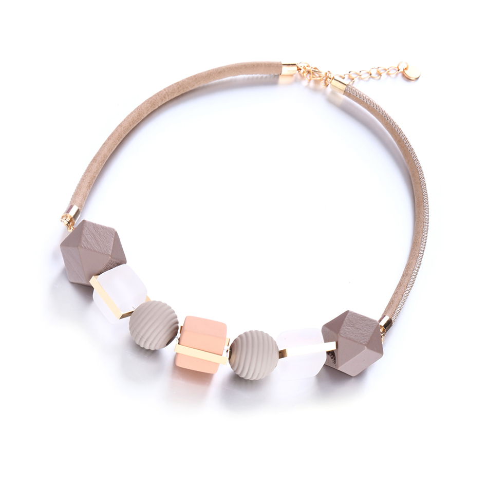 Match-Right Women Necklace Statement Necklaces & Pendants Wood Beads Necklace For Women Jewelry MX012 Ожерелье