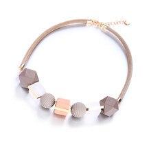 086e5194ce45 Match-Right collar collares y colgantes collar de madera de perlas para las mujeres  joyería MX012