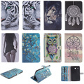 Fashion Cartoon Tiger Lion Pattern PU Leather Flip Case For Samsung Galaxy Tab E 8.0 T377 SM-T377V Back Cover With Card Holder