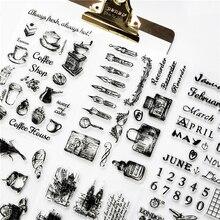 1 шт. Прозрачная силиконовая печать DIY ретро Печать Алфавит английский дорожный материал прозрачные штампы офисные принадлежности