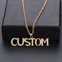 Lateefah Customized Jewelry Custom Made Name Zirconia Necklaces Choker Necklace Letter Pendant Nameplate Gift Personalized