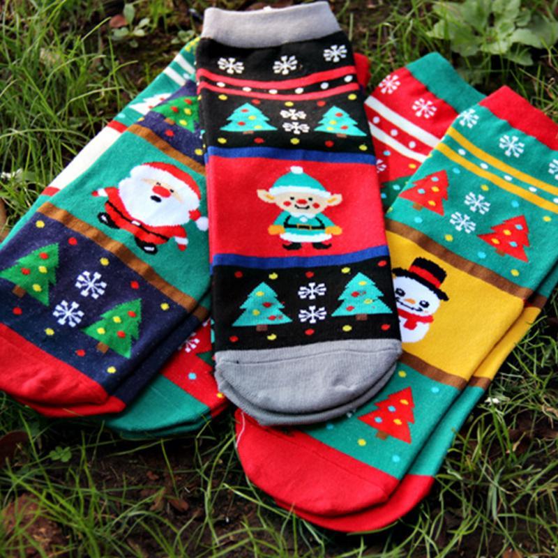 para mujer para hombre de xma mam pap adulto invierno clido calcetines de algodn de navidad