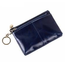 2016 Genuine Leather Women Wallets Ladies Designer Luxury Brand Zippers Hasp Vintage Wallet Female Oil Wax Cowhide Clutch Purses