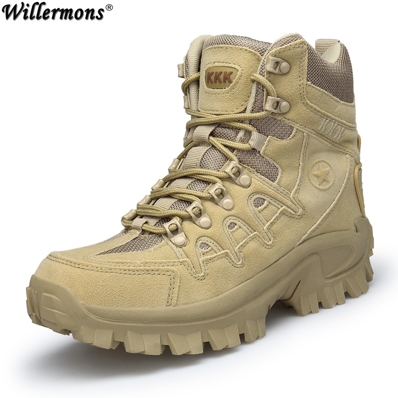 Army Men's Outdoor Tactical Safety Work Boots Shoes Men Military Desert Combat Ankle Boots Shoes Tactics Botas Hombre