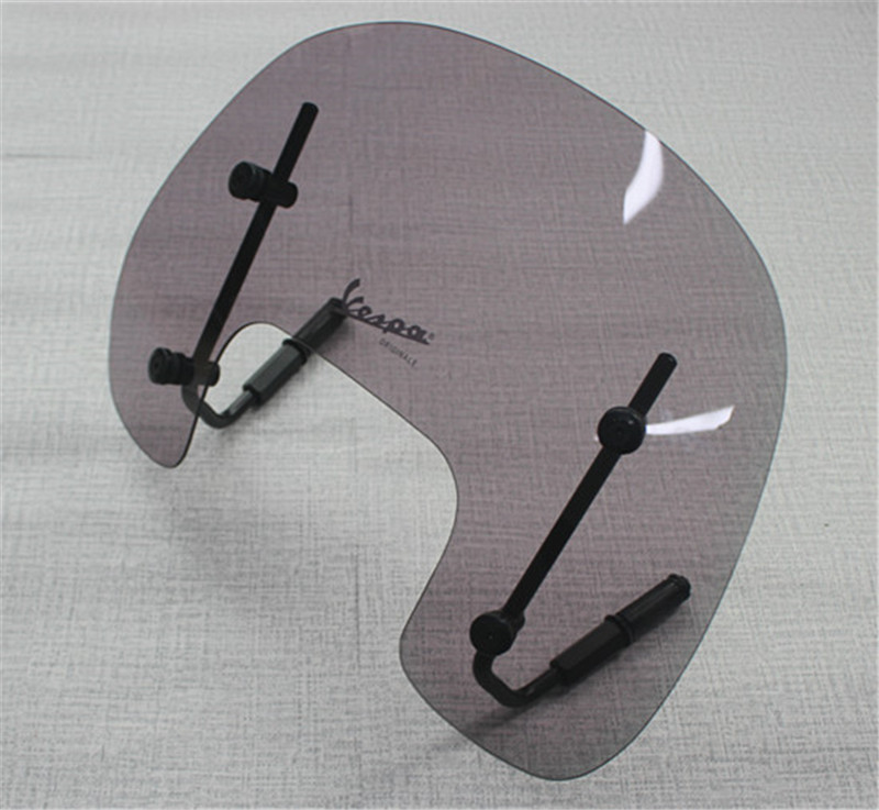 Smoke Motorcycle Windshield Wind Deflectors Windscreen For Vespa S With Fitting Kit