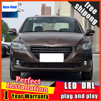 Car-styling LED fog light for Peugeot DSDS 5LS 2014-2016 LED Fog lamp with lens and LED daytime running ligh for car 2 function