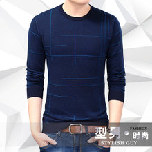 New arrival 2017 Autumn Men Casual long sleeve T-shirt men round collar render knitted Sweater Tops Tees men's clothing MQA12