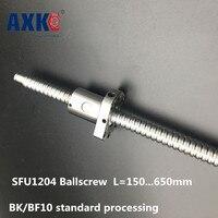 SFU1204 Ballscrew L150 200 250 300 350 400 500 600 650mm With Single Ballnut For BK