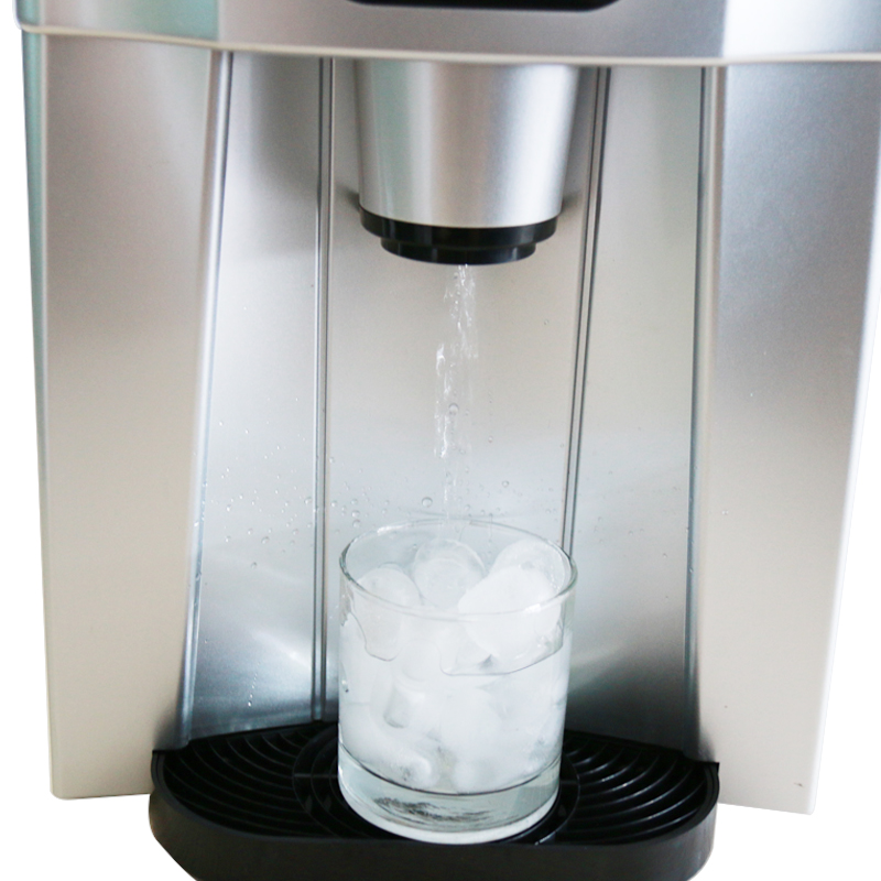 220V Automatic Electric Ice Maker Multifunctional LCD Commercial Ice Drinking Machine Ice Cube Ice Water EU/AU/UK Plug цены