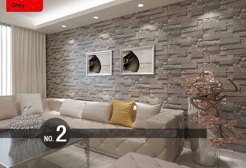 Beibehang Stacked Brick 3d Stone Wallpaper Roll Grey Wall Background For Living Room Vinyl Paper In Wallpapers From Home