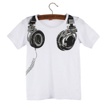 2019 Hot Sale t shirt Boy Kids summer children clothing Headphone Short Sleeve Tops Blouses t shirt Tees Clothes #N30