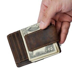 Image 2 - Nam Ban Đầu Thiết Kế Da Du Lịch Thời Trang Mỏng Nhẹ Túi Trước Từ Công Suất Lớn Kẹp Tiền Thẻ Dành Cho Nam 1025