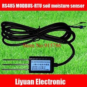 Image 1 - 1 قطعة RS485 MODBUS RTU مستشعر رطوبة التربة/مستشعر 5 24 فولت كاشف التربة/التربة شحن مجاني