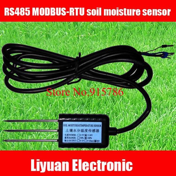 1 قطعة RS485 MODBUS RTU مستشعر رطوبة التربة/مستشعر 5 24 فولت كاشف التربة/التربة شحن مجاني