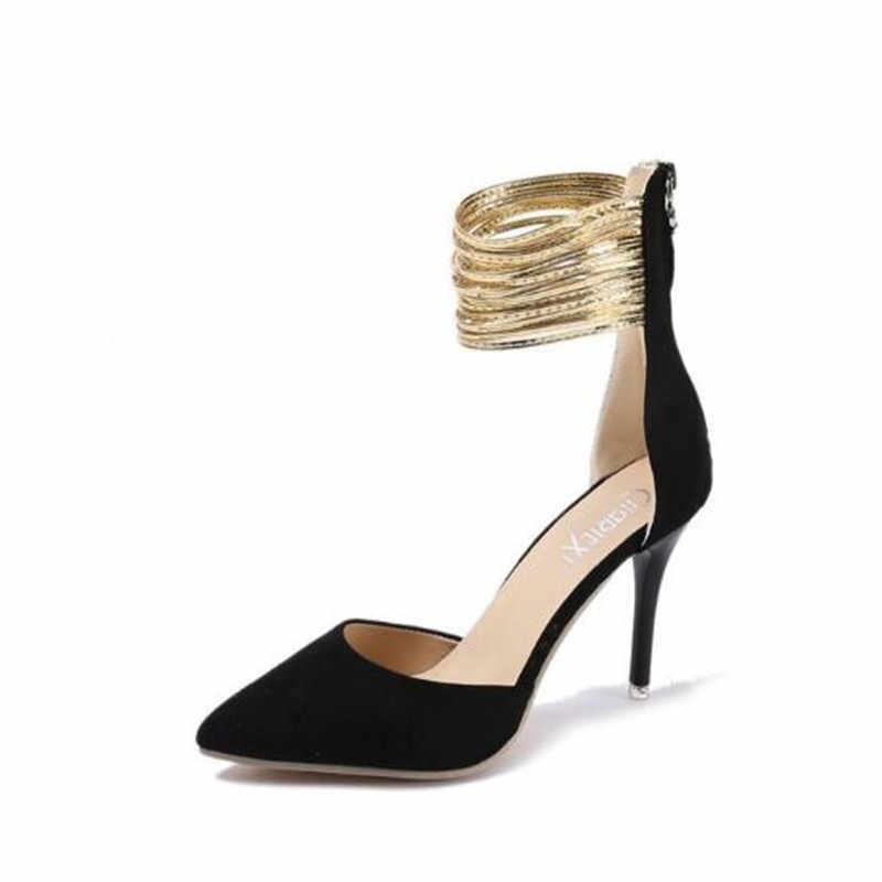 Mary janes pompe scarpe da donna sandalias mujer 2019 sexy degli alti talloni di estate scarpe donna sandali fetish scarpe tacchi alti