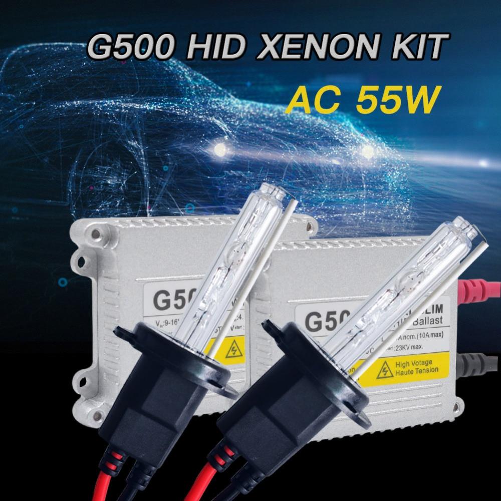 1 set Xenon H7 HID Kit 55 W H1 H3 H4 H7 H8 H10 H11 881 H27 HB3 9005 HB4 9006 881 D2S Voiture source de lumière au xénon ampoule H11