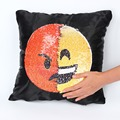 Sequin Emoji Cushion Cover Pillow Cases Changing Face Decorative Pillowcase Sofa Home Decor Small Glitter Decoration