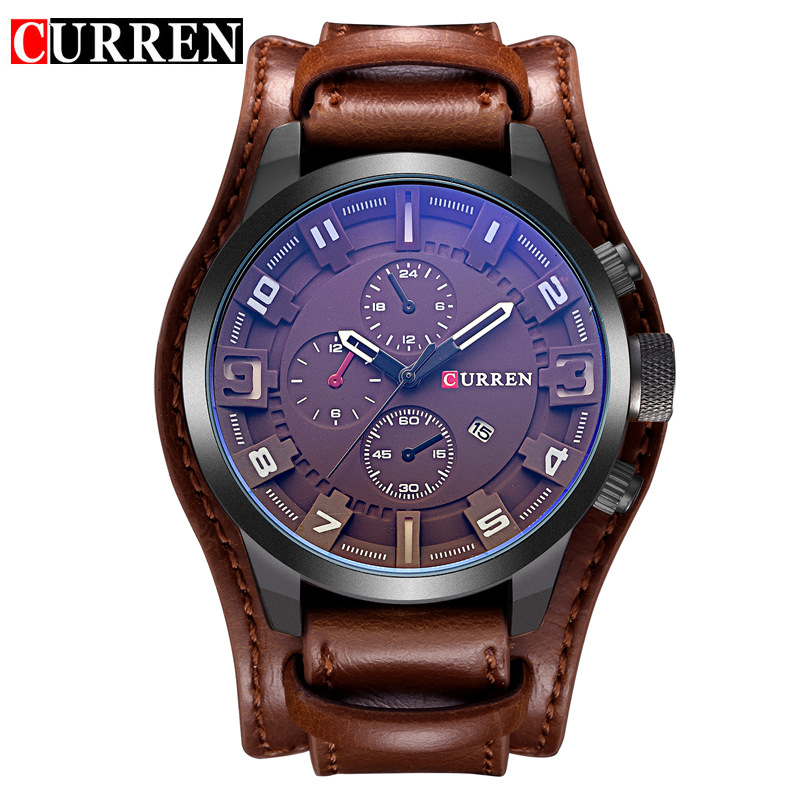 CURREN 8225 Men Military Sport Quartz Watches Mens Brand Luxury Leather Strap Waterproof Male Clock Wristwatch Relogio Masculino 2017 curren mens watches top brand luxury military wrist watch men sport clock male leather strap quartz watch relogio masculino