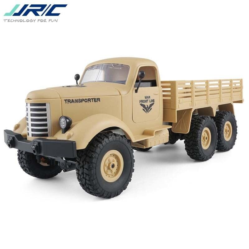 Good Children's Toy JJRC Q60 1/16 2.G 6WD Off-Road Military Trunk Crawler Remote Control RC Car Children Birthday Gift Present
