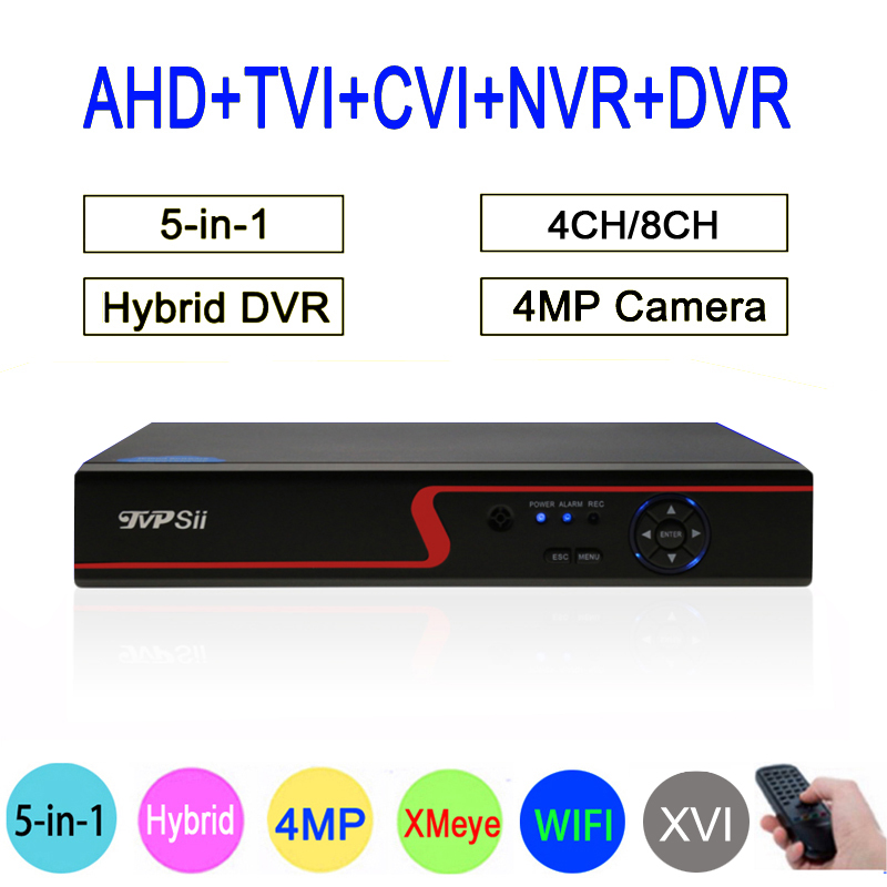 Red Panel 4MP Surveillance Camera HI3521A Xmeye 4CH/8CH 6 in 1 H264+ WIFI Hybrid Coaxial TVi CVI NVR AHD CCTV DVR Free Shipping silver panel hi3521a 5 in 1 xmeye 4 channel 4ch 1080p 2mp 25fps realtime hybrid coaxial nvr tvi cvi ahd cctv dvr free shipping