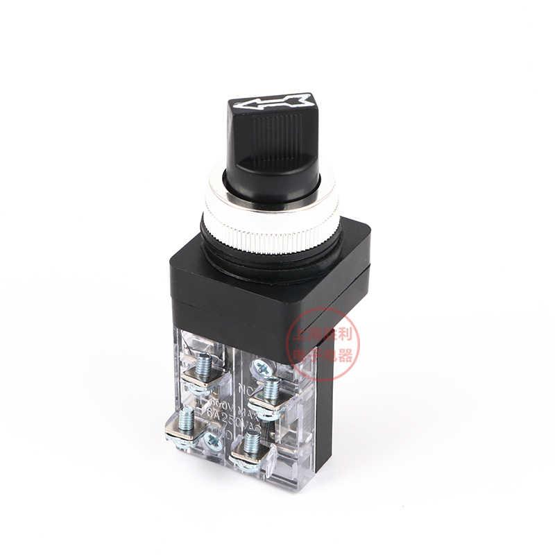 P155 250 V 6A электрические поворотная ручка 30 мм 25 мм 2 Позиции/3 селектор положения переключатель 1NO TSS-25 TSS-30