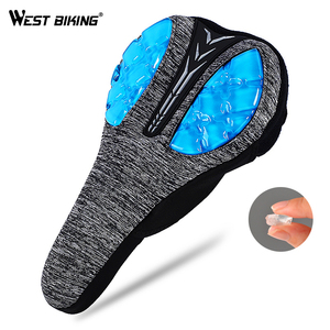 WEST BIKING Bicycle Saddle Cover 3D Liquid Silicon Gels Cycling Seat Mat Comfortable Cushion Soft Anti Slip Bike Saddle Cover