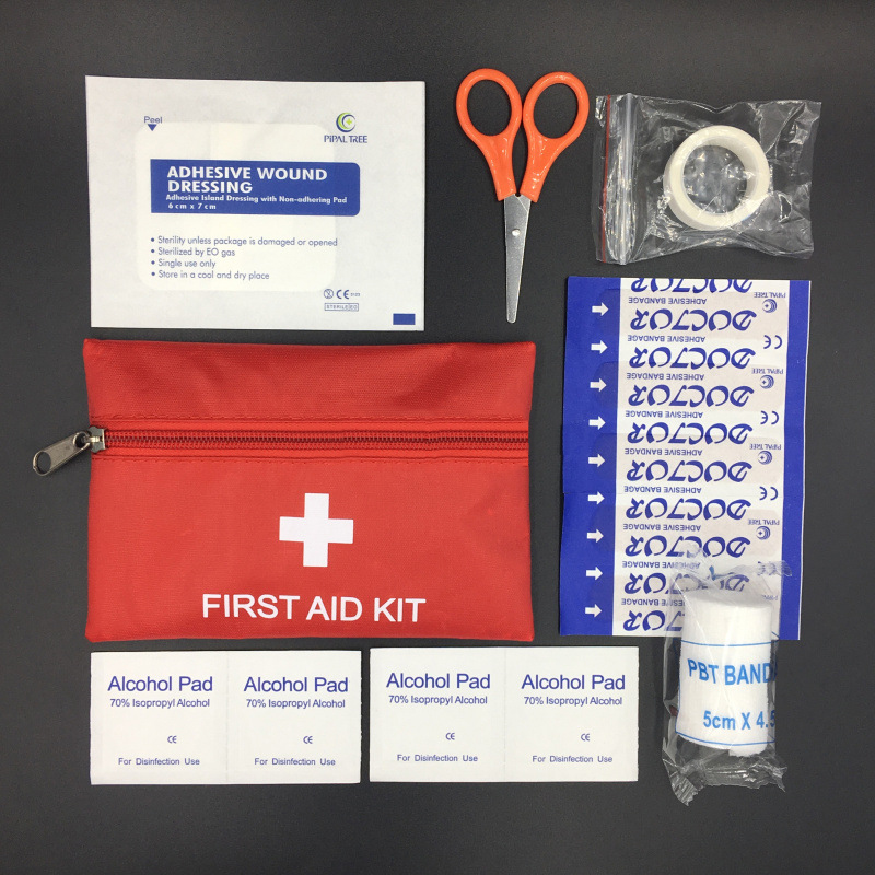 JM006 First Aid Kit Seven-piece Storage Medicine Box Travel Pack For Outdoor Car Earthquake Mountain Climbing